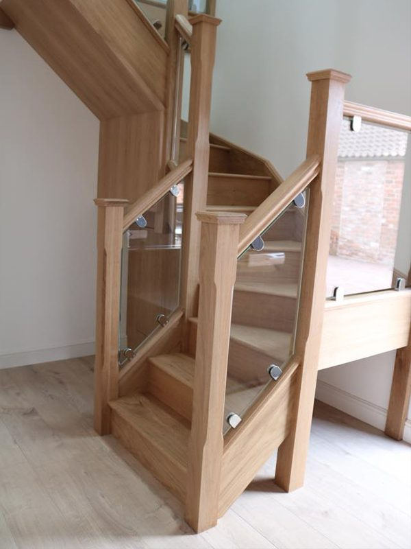staircase with under stairs storage