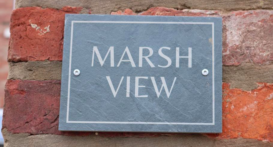 marsh view cottage sign
